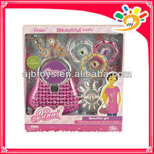 Pretend play plastic girl jewellery fashion beauty set toy