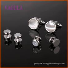 VAGULA Fashion Sea Shell Gemelos ensemble de boutons de manchette de mariage