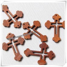 Easter Religious Hand Carved Decorative Wooden Cross (IO-cw005)