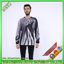 Sublimation Jersey Dry Fit T-Shirts für Motorrad Komposition