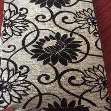 Patrón de flores Flock diseño de la buena calidad