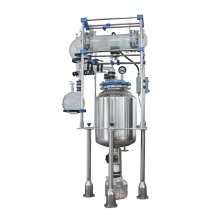Reator de vidro de laboratório com revestimento