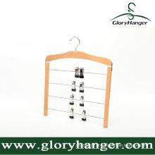 Cabide de calças multifunções de madeira para uso doméstico