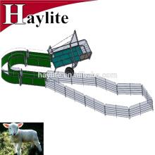 Granja móvil de ovejas de cabra galvanizada con panel, puerta y remolque