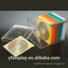 Heißer Verkaufs-hoher freier Acryl-CD-Anzeigen-Halter, Buch-Anzeigen-Halter