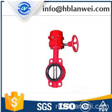 Ductile iron single wafer type manual butterfly valve