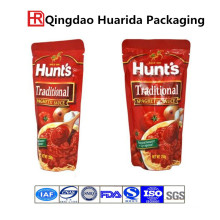 Stand up Tomato Sauce Packaging Bag with Zipper