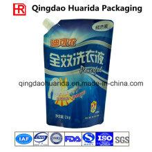 Bolsa de detergente para lavandería personalizada Bolsa de arena para arriba con cornner spout