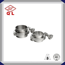 Edelstahl Sanitary Tri Klemme mit Long Ferrule Ss304 Ss316 Sanitary Clamp Union