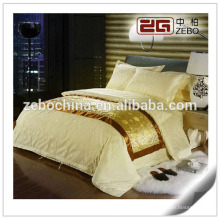 100% Baumwolle Buntes Jacquard-Gewebe Kundenspezifisches King Hotel Bedsheet
