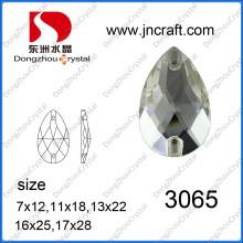 Perlas de cristal facetado de la pera para los accesorios de las mujeres (DZ-3065)