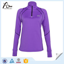 Frauen Viertel Zip Pullover Sexy Shirts Gym Wear