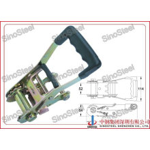"2""- 50mm Rubber Handle Ratchet Strap Tie Down Buckle"