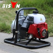 BISON China 1.5inch 2HP Gasolina Motor Bomba de pressão manual com baixa pressão