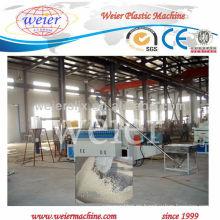 Qingdao weier CE solo tornillo wpc que hace la máquina de la pelotilla