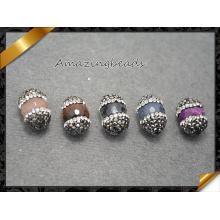 Смешайте бусы камня самоцвета с кристаллическим Rhinestone для делать браслетов, оптовая продажа ювелирных изделий камня (EF0111)