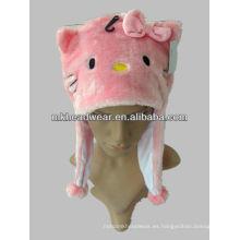 Sombrero diseñado lindo del animal de la felpa