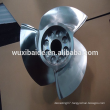 custom cnc machining stainless steel 17-4PH Blade for boat , cnc turning stainless steel parts service