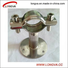 Stainless Steel Sanitary Round Pipe Hanger with Handle and Seat