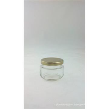 Glass Food Jar with Metal Lid