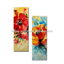Colourful Flower Oil Painting On Canvas