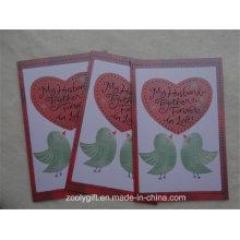 Индивидуальный дизайн Печать Текстурированная бумага Поздравительные открытки с конвертом