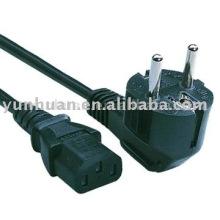 Câble d'alimentation français type fiche connecteur pour câble IEC