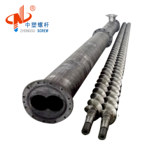Chrome Parallel extruder screw and barrel for PVC Plastic machine