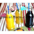 Garrafas de vidro para bebidas Garrafas de vidro para suco com tampa