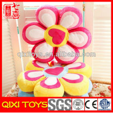 Customized log promotional gift plush flower pillow