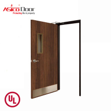 ASICO UL Listed 1.5 Hour Fire Rated Solid Wood Flush Door For Highrise Residential And Commercial Building
