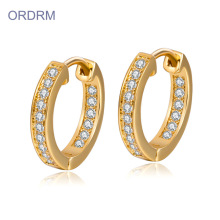 Mini Strass Diamant Gold Creolen
