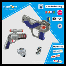 Hot item promotional kid toy with light space gun toy