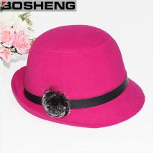 Warm Sweet Lady Wide Brim Felt Bowler Floppy Cloche Hat