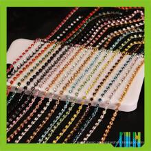 rolo cor latão 3mm fechar vidro cristal strass copa cadeia