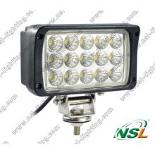 12V 24V 6 ′ ′ 45W LED de trabalho com feixe de spot e feixe de inundação para máquinas agrícolas, caminhão, barco