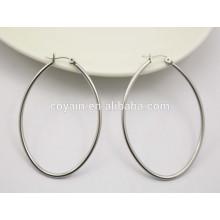 Silber Reifen Ohrringe ovale kleine Reifen Ohrringe für Frauen