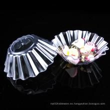 Discos de plástico plato desechable Plato de plástico canalizado