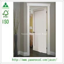 Porta de madeira branca da engenharia do painel liso