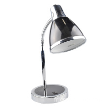 Lampe de table en fer de style simple de couleur noire