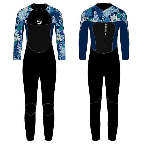 Seaskin Girls Back Zip Surfing Πλήρες κοστούμι