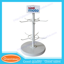 store counter top rotating lipstick metal display stand