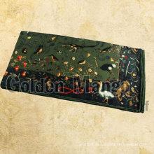 Fahsion bufanda de seda cuadrada con impresión digital