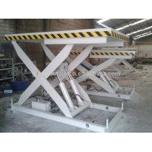 2015 Newest manual hydraulic scissor electric big lift table