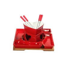 Ensemble de mini hot pot de couleur rouge