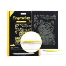 Grabado arte cero Junta hoja de oro Kit de dibujo para niños