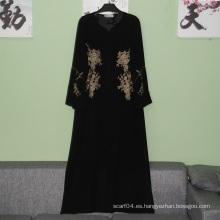 Vestido largo islámico islámico elegante del abuyá del abaya elegante de Hotsale vestido largo musulmán largo abaya del invierno del vestido