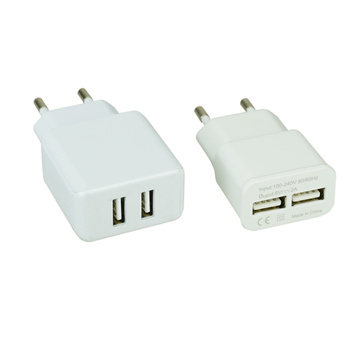 Caricabatterie USB 5V 2A con 2 usb