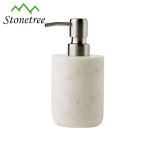 Hotel Soap Bottle Pump White Marble Automatic Hand Lotion Dispenser