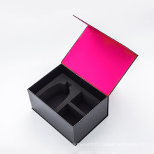 Custom Fancy Beauty Box Cosmetics Gift Box Black Makeup Box Packaging with Magnet